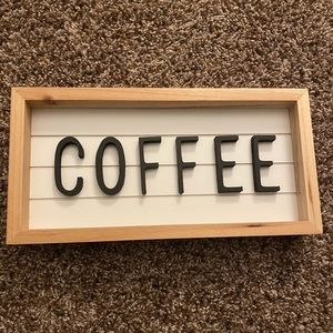 Other - Coffee sign room decor